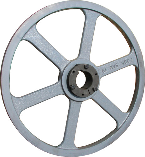 "19"" band wheel for portable sawmill and resaw bandsaw blades"