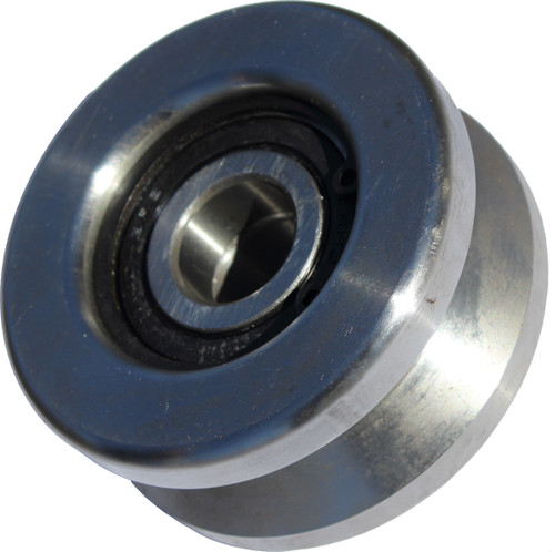 V-track roller wheels for portable sawmill head carriage movement
