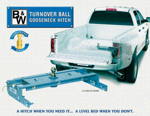 NEW B+W Turnoverball Gooseneck Hitch