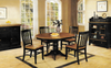 """Chatham Pedestal Round 42"""" Table With Four Slat Back Chairs"""
