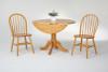 "Solid Birch 42"" Round Dropleaf Pedestal Table"
