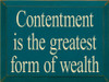 """CUSTOM """"A Rich Person Is Not..."""" 18x9 and """"Contentment Is The..."""" 12x9"""