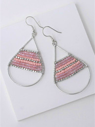 Hidden Treasure Beaded Earrings - Pink