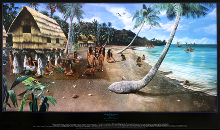Guam Gifts Guam Art Chamorro Village Illustration
