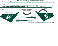 1/144 Scale Decal PIA - Pakistan International A-320 60th Aniversary