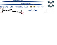 1/144 Scale Decal LAV - Aeropostal C-46