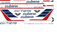 1/144 Scale Decal Cubana TU-154