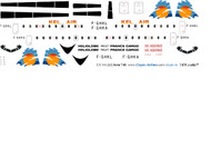 1/144 Scale Decal Kel Air HS-748
