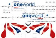 1/200 Scale Decal British Airways 747-400 Oneworld