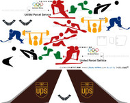 1/200 Scale Decal UPS 747-200F Olympics
