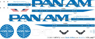 1/200 Scale Decal Pan Am 747-200 Hybrid