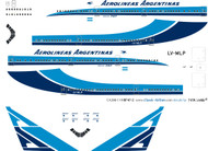 1/200 Scale Decal Aerolineas Argentinas 747-200 Delivery