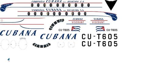1/96 Scale Decal Cubana Viscount 700