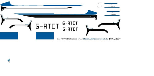 1/72 Scale Decal BN2 Islander Prototype