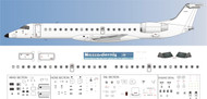 1/144 Scale Decal Detail Sheet ERJ-145