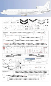1/144 Scale Decal Detail Sheet L-1011