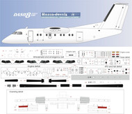 1/72 Scale Decal Detail Sheet Dash-8-100 thru 300