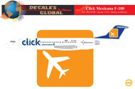 1/144 Scale Decal CLICK Mexicana F-100 FIRST