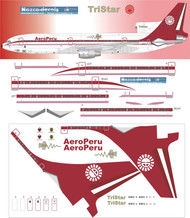 1/200 Scale Decal AeroPeru L-1011 70's