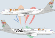 1/144 Scale Decal Aces Columbia A-320 Allianza Summa Livery
