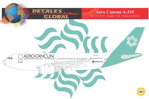 1/144 Scale Decal AeroCancun A-310