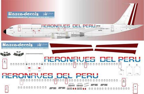 1/144 Scale Decal Aeronaves del Peru 707