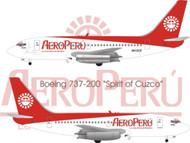 1/144 Scale Decal Aero Peru 737-200 Spirit of Cuzco