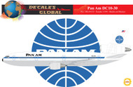 1/144 Scale Decal Pan American DC10-30