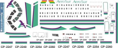 1/144 Scale Decal AeroSur BAe-146