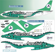 1/144 Scale Decal AeroSur 737-300 Alligator Livery