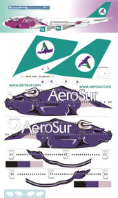 1/144 Scale Decal AeroSur 747-300 Torisimo