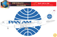 1/144 Scale Decal Pan American A-310