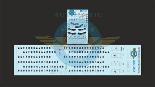 1/144 Scale Decal Lifelike Cockpit / Windows / Doors 737-100