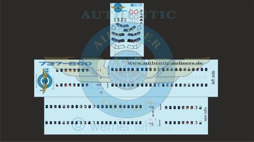 1/144 Scale Decal Lifelike Cockpit / Windows / Doors 737-600