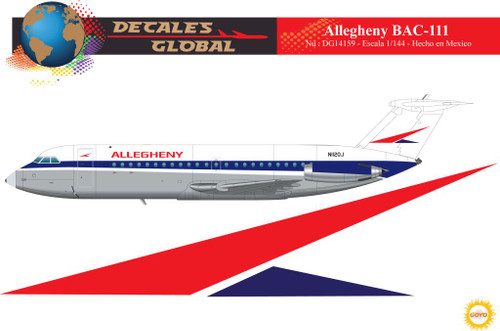1/144 Scale Decal Allegehny BAC-111