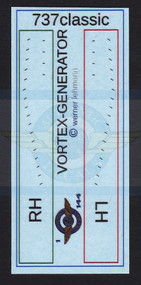 1/144 Scale Decal 3-D 737 Classic Vortex Generator