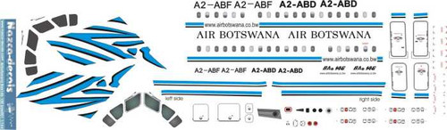 1/144 Scale Decal Air Botswana BAe-146