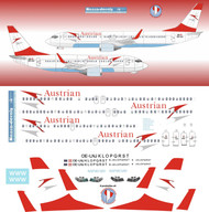 1/144 Scale Decal Austrian Airlines 737-700 / 800