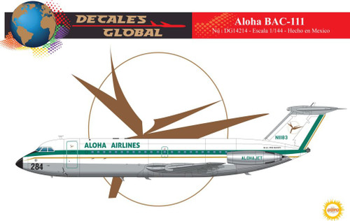 1/144 Scale Decal Aloha BAC-111