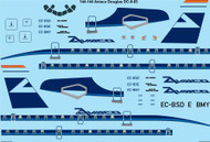 1/144 Scale Decal Aviaco Douglas DC-8-63