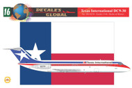 1/144 Scale Decal Texas International DC-9