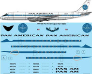 1/144 Scale Decal Pan Am DC8-32