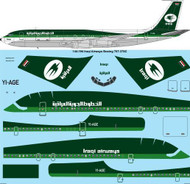 1/144 Scale Decal Iraqi Boeing 707-320C