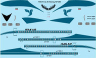 1/144 Scale Decal Iran Air Boeing 727-200