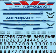 1/144 Scale Decal Aeroflot Ilyushin IL-86