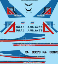 1/144 Scale Decal URAL Airlines Ilyushin IL-86