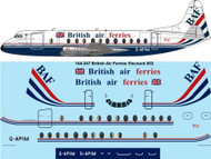 1/144 Scale Decal BAF Vickers Viscount 800