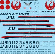 1/144 Scale Decal JAL Japan Airlines Boeing 747-146 / 246