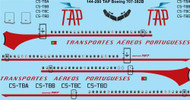 1/144 Scale Decal TAP Boeing 707-382C laser decal