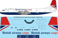 1/144 Scale Decal British Airways Cargo Vickers Vanguard